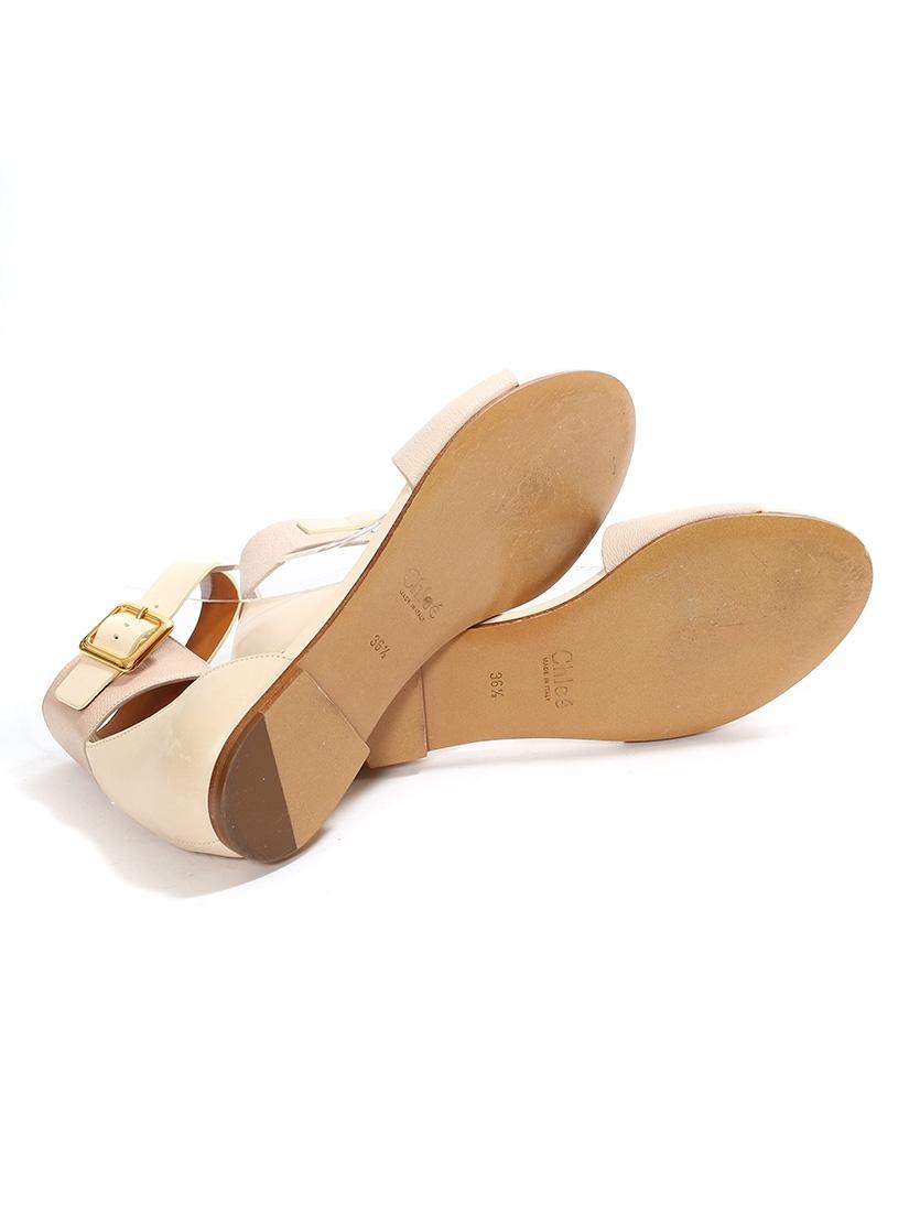 louise paris chloe sandales plates lazise en cuir beige et rose poudre neuves px boutique 475. Black Bedroom Furniture Sets. Home Design Ideas