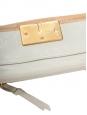 Portefeuille long à rabat en cuir beige rosé Px boutique 350€