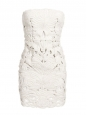White cut-out strapless mini dress Retail price €2360 Size 36/38