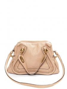 PARATY pink beige leather medium shoulder bag NEW Retail price €1450