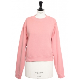 Marshmallow pink cotton-blend crew neck jumper Retail price €200 Size S