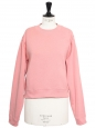 Marshmallow pink cotton-blend crew neck jumper Retail price €150 Size S