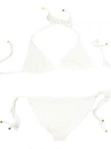Maillot de bain deux pièces triangle scallop blanc Px boutique 220€ Taille