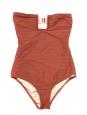 Maillot de bain une pièce bustier FORTE DEI MARMI rose terracotta NEUF Px boutique 218€ Taille XS