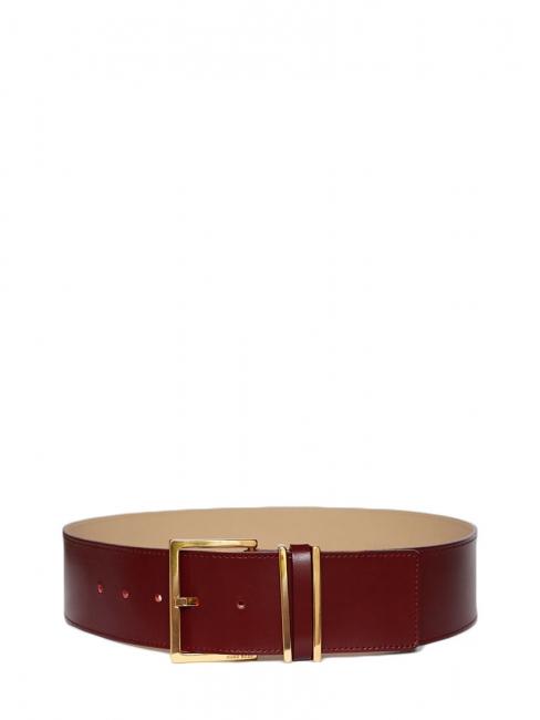 4c22857aa738 Ceinture large MANITA en cuir rouge bordeaux et boucle dorée NEUVE Px  boutique 130€ Taille