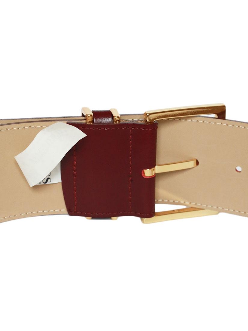 ... Ceinture large en cuir rouge bordeaux et boucle dorée NEUVE Px boutique  150€ Taille S ... 6f585e7fa8f