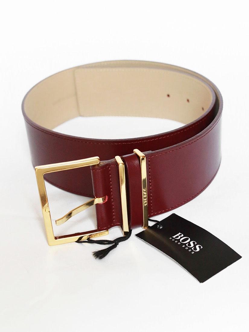 ... Ceinture large en cuir rouge bordeaux et boucle dorée NEUVE Px boutique  150€ Taille S 76208145075