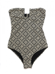 Beige and black one piece open back FORTE DEI MARMI swimsuit Retail price $218 Size 34 / XS