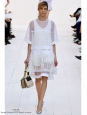 Jupe taille haute en coton et dentelle crochet blanc Px boutique 800€ Taille 40