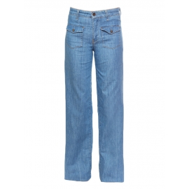 Light denim blue wide-leg flare jeans Retail price €220 Size 36