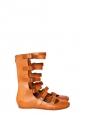 Ballerines plates multi-brides en cuir camel NEUVES Px boutique 600€ Taille 39,5