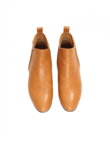 Bottines plates PIPER hauteur cheville en cuir camel Px boutique 500€ Taille 39,5