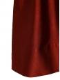 Robe manches 3/4 en crêpe et soie damassée rouge amarante NEUVE Px boutique 1300€ Taille 34