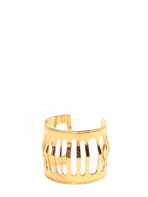 Bracelet manchette en laiton doré NEUF Px boutique 150€