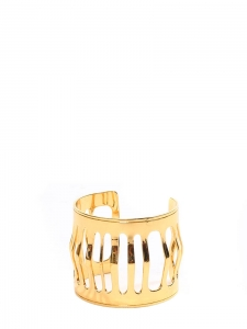 Golden brass cutout cuff bracelet NEW Retail price €150