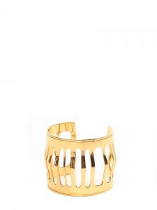 Golden brass cutout cuff bracelet NEW Retail price €150