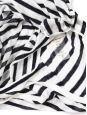 Débardeur décolleté plongeant en lin mélangé rayé noir et blanc Px boutique 150€ Taille 36