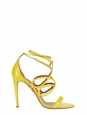 Bright yellow patent leather GIGI stiletto heeled sandals Retail price 595€ Size 37