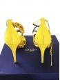 Sandales stiletto GIGI en cuir verni jaune soleil Px boutique 800€ Taille 37