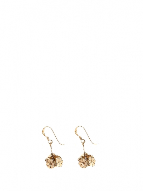 Gold plated daisy flower pendant earrings Retail price €250