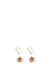 Boucles d'oreilles pendantes fleurs en cuivre doré Px boutique 300€