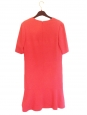 Robe manches courtes col V en jersey rose corail Px boutique 600€ Taille 34