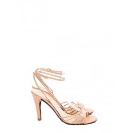 Sandales à talon en cuir rose poudre Prix boutique 300€ Taille 37