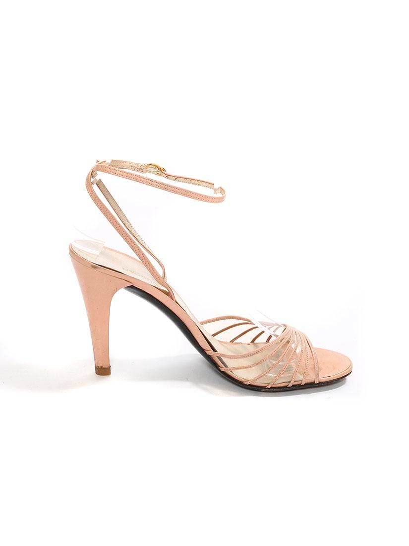 louise paris charles jourdan sandales talon en cuir rose poudre prix boutique 300 taille 37. Black Bedroom Furniture Sets. Home Design Ideas