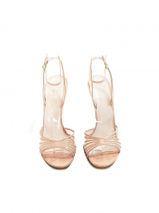 Soft pink leather heel sandals Retail price €300 Size 37