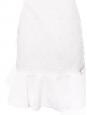 Robe bustier à volant en tissu texturé blanc Px boutique 1200€ Taille 36