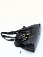 Kerala black grained leather bag with gol horseshoe charms Retail price 1200€