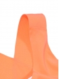 Débardeur bretelles larges en soie orange fluo Px boutique 350€ Taille 40
