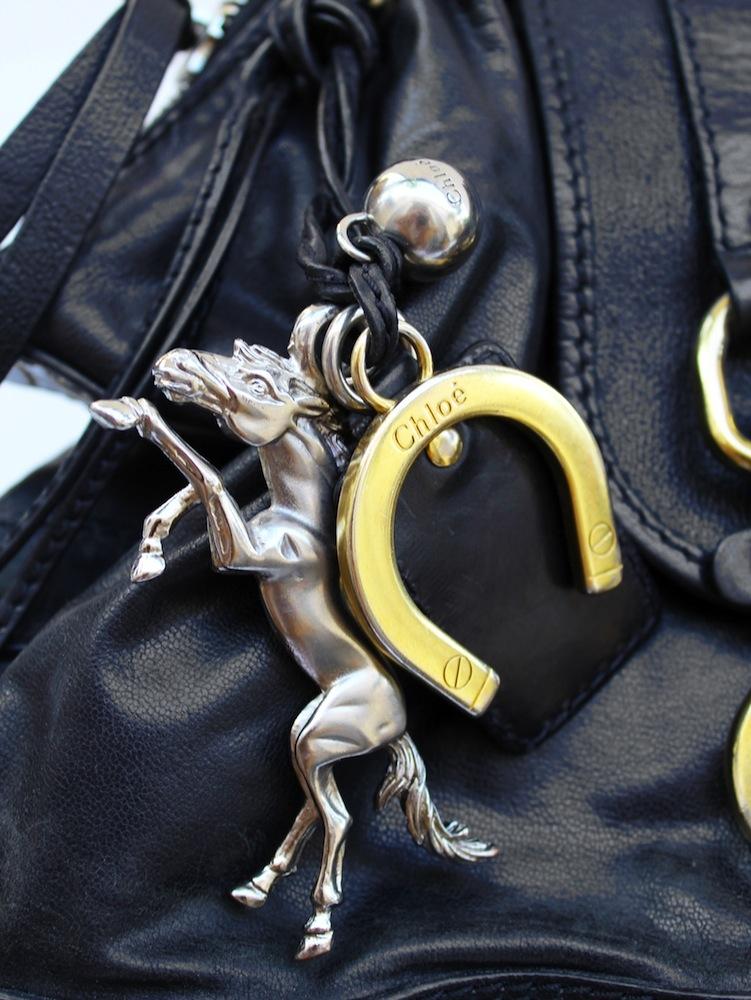 chloe pink bag - Louise Paris - chloe Kerala black grained leather bag with gol ...
