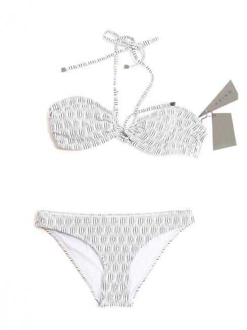 Maillot de bain deux pièces VENICE BEACH et SHIKOKU texturé noir et blanc NEUF Px boutique 213€ Taille 36