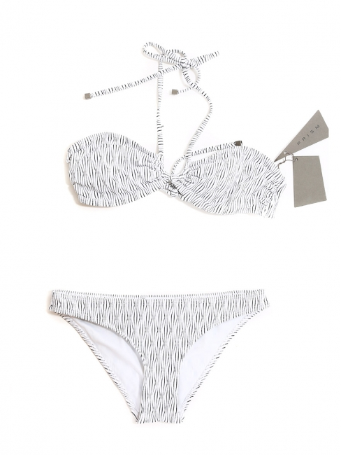 Black and white striped VENICE BEACH and SHIKOKU bikini swimsuit NEW Retail price €213 Size S