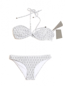Black and white striped VENICE BEACH and SHIKOKU bikini swimsuit NEW Retail price €213 Size XS