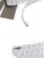 Maillot de bain deux pièces VENICE BEACH et SHIKOKU texturé noir et blanc NEUF Px boutique 213€ Taille 34