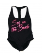 Black and pink SEX ON THE BEACH racerback swimsuit Retail price €175 Size 36