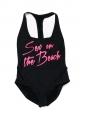 Maillot de bain une pièce SEX ON THE BEACH noir et rose Px boutique 175€ Taille 36