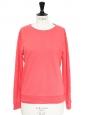 Pink cotton round neck jumper Retail price €110 Size 36