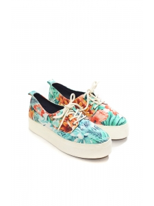 Baskets CYPRESS en toile de coton imprimé tropical NEUVES Px boutique 70€ Taille 37