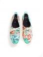 Tropical printed cotton canvas CYPRESS sneakers NEW Retail price €70 Size 37
