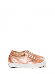 Metallic pink leather Authentic sneakers Size 37