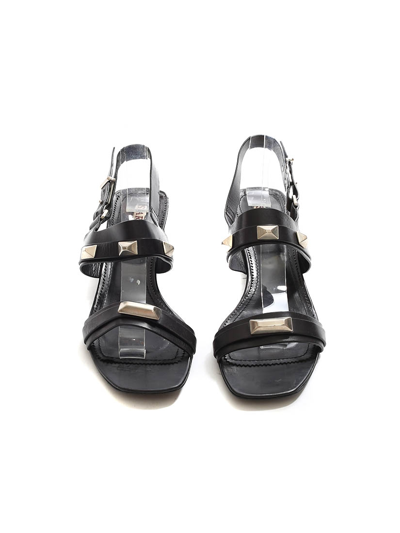 576a2d49b97 Louise Paris - SARTORE Low heel black sandals embellished with ...