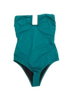 Maillot de bain une pièce bustier FORTE DEI MARMI vert émeraude NEUF Px boutique 216€ Taille 38