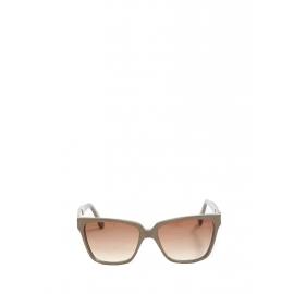 Lunettes de soleil monture gris taupe et verres dégradés bruns Prix boutique 250€