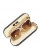 Lunettes de soleil monture gris taupe et verres dégradés bruns Px boutique 250€