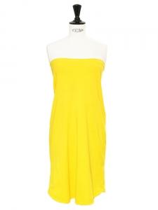 Robe bustier en coton jaune vif Px boutique 150€ Taille 34