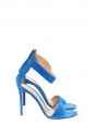 Royal blue suede leather heeled sandals NEW Retail price €629 Size 36