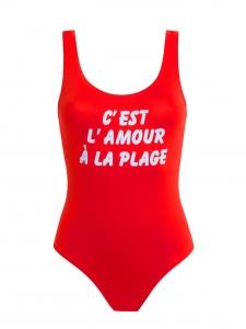 Maillot de bain une pièce décolleté dos nu rouge Malibu Px boutique 80€ Taille 36/38